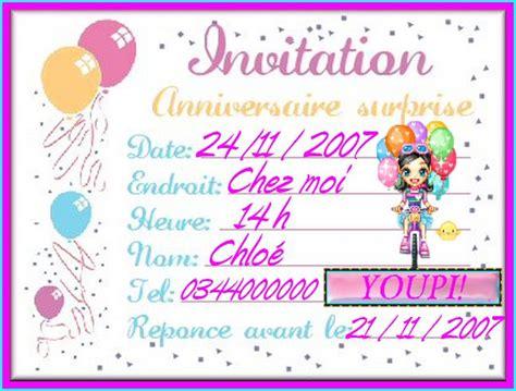 modele de invitation anniversaire carte d invitation anniversaire gratuite a imprimer pour
