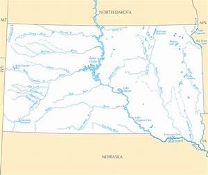 Dacota Sud Ouest : carte des rivi res et des lacs dakota du sud guide de ~ Premium-room.com Idées de Décoration
