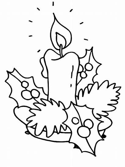 Coloring Candle Christmas Pages Kindergarten Introducing
