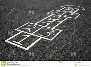 Hopscotch Game stock photo. Image of games, chalk, numbers ...