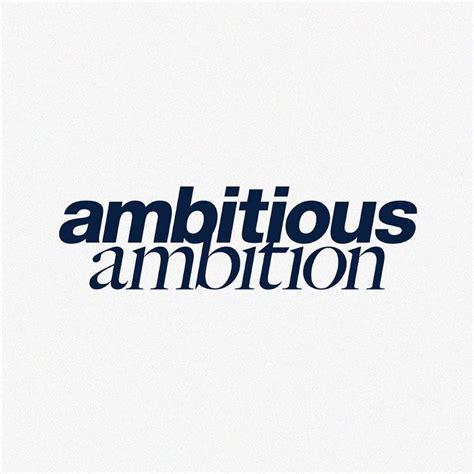 ambitious ambition - YouTube