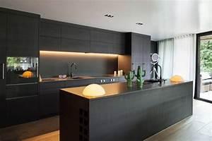 33, Sleek, Black, Kitchen, Ideas, For, 2018