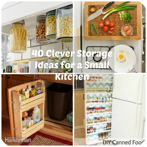 ideas for kitchen storage in small kitchen 40 clever storage ideas for a small kitchen 9611