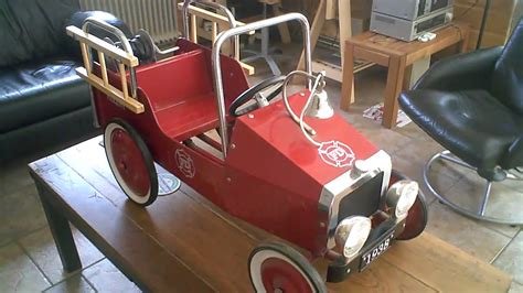 fd fire truck kids pedal car   marquant youtube