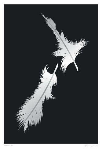 feathers map  nz  designer glenn jones  sale