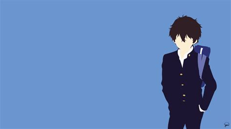 Minimalistic Anime Wallpapers - oreki houtarou hyouka minimalist wallpaper by