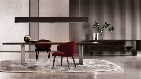 The Morgan rectangular dining table, Minotti   Luxury furniture MR