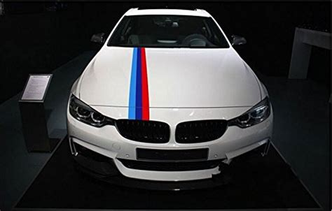 "47"" Bmw Hood Stripe Vinyl Stickers Car Engine Cover, Roof"