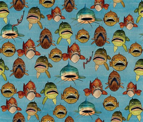 fish print wallpaper gallery
