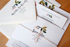 jenna asa39s floral wedding invitations from rifle paper co With how to address wedding invitations australia