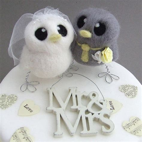 birds wedding cake topper and groom bird wedding cake topper by