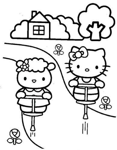 kitty  disegni da stampare  colorare  tutto donna
