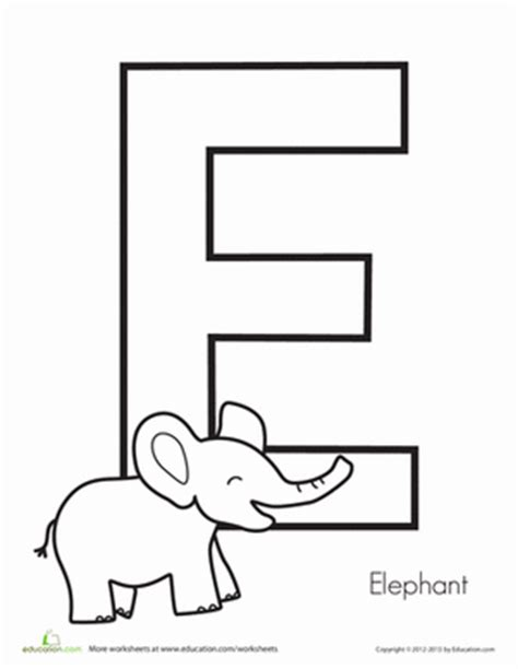 letter e worksheets preschool e is for elephant worksheet education 307