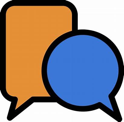 Discussion Clipart Chat Icon Moodle Round Clip