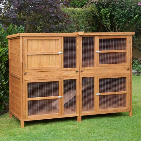 a rabbit hutch home roost 6ft chartwell rabbit hutch no1