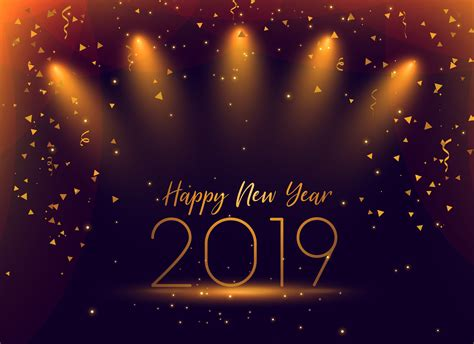 And New Year Background by 2019 New Year Celebration Confetti Background