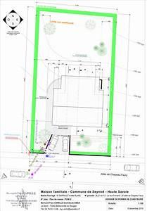 maison nezrouge permis de construire plan de masse pcmi2 With plan de masse d une maison