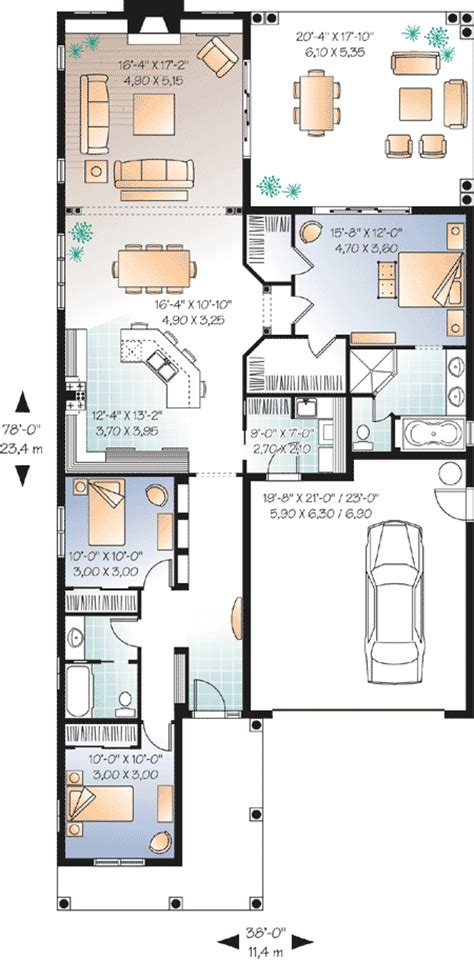 small lot home plans narrow lot florida house plan 21650dr 1st floor master