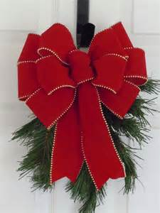traditional wreath bow by simplyadornmentsss on etsy