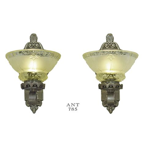 antique wall sconces edwardian lighting fixtures cup shade