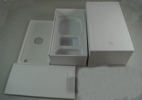 iphone  box white black mobile phone packaging