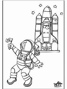 Astronaut 2 Malvorlagen Raumfahrt