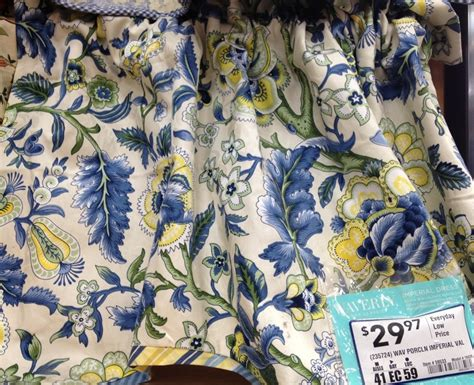 waverly valance lowes blue yellow dining room