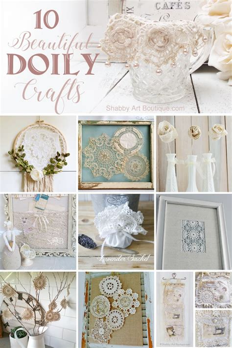 beautiful doily craft projects   shabby art