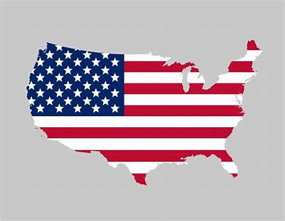 Usa Flag Map America Clipart Clip States