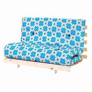 Double 4ft 125cm futon wooden frame sofa bed luxury for Wooden frame futon sofa bed