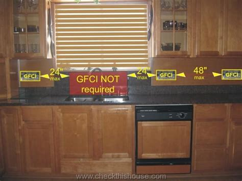 kitchen gfci receptacle   electrical requirements
