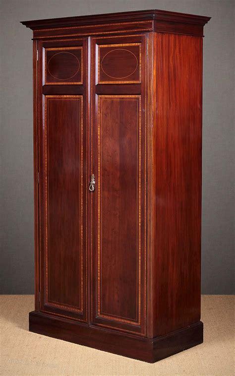 Wardrobe Cupboard by Edwardian Mahogany Wardrobe Cupboard C 1910