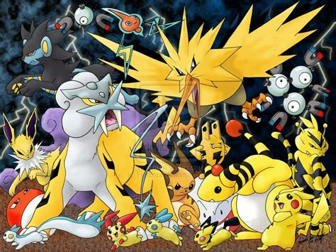 Typings Of Pokemon 4 Electric Pokmon Amino