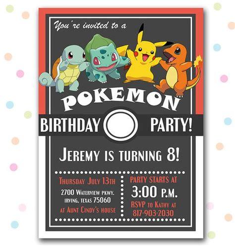superb pokemon birthday invitations kitty baby love