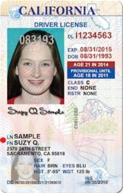 Vertical California Driver's Licenses For Drivers Under 21? What About Oversize Ones For The