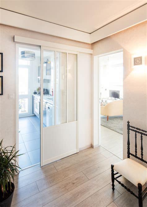 portes de cuisine sur mesure porte coulissante style atelier blanche sur mesure