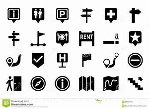 Maps And Navigation Vector Icons 3 Stock Illustration ...