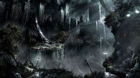 War Black Dark Night Destruction Apocalypse Fantasy Art