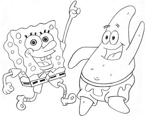 Spongebob And Patrick Coloring Pages To Print - Sanfranciscolife