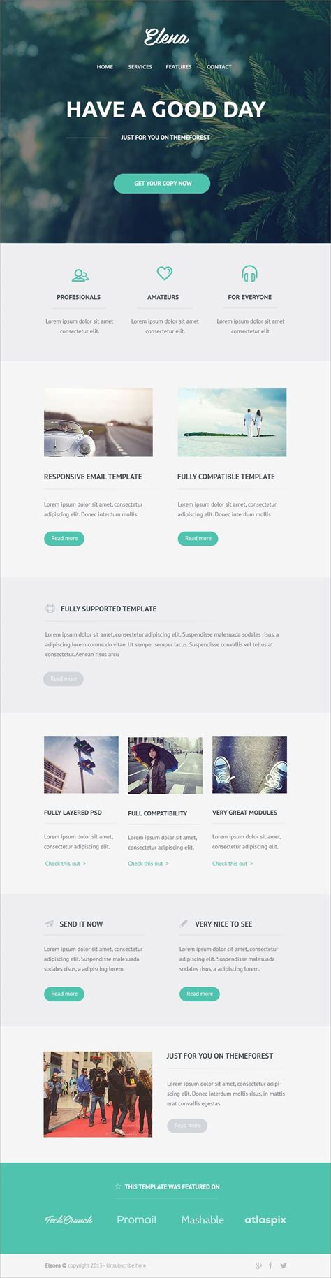 desarrollo web templat free email newsletter templates psd 187 css author design