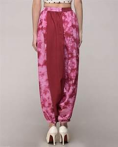 Tie And Dye Marron : maroon tie dye harem pants by simply kitsch the secret label ~ Melissatoandfro.com Idées de Décoration