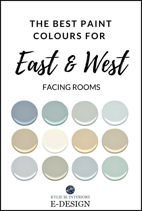 the best paint colour for east west facing exposure