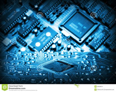 Futuristic Integrated Circuit Stock Image