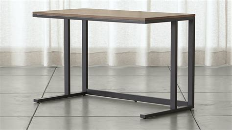 Crate And Barrel Pilsen Desk by Pilsen Graphite Desk With Walnut Top Crate And Barrel