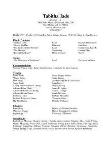 What To Put On An Acting Resume by The Awesome Special Skills On Acting Resume Resume Format Web