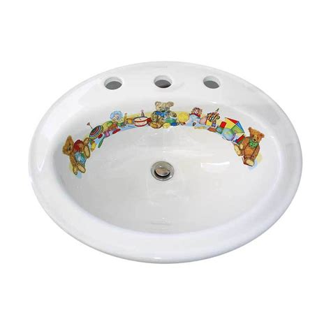 hand painted bathroom sinks teddy bears decorated drop in basin