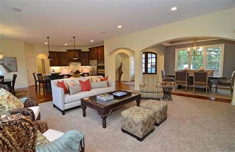 close  perfect traditional open living room ideas