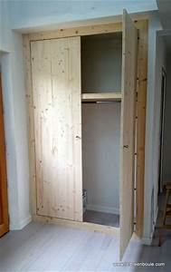 Fabriquer Sa Porte Coulissante Sur Mesure : fabriquer porte placard porte de placard dressing idees ~ Premium-room.com Idées de Décoration