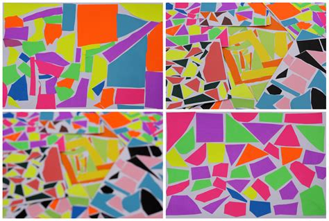 Easy Abstract Shapes by With Mr Abstract Mosaic Collage