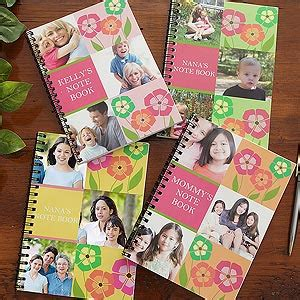 personalized notebooks  photo collage cover